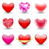 Icons hearts Stock Image
