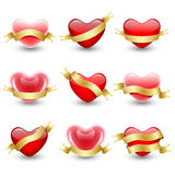 Icons hearts Royalty Free Stock Photos