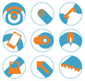 Icons high technology Stock Images