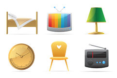 Icons for home Royalty Free Stock Image