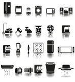 24 Icons of home appliances Stock Photos
