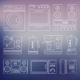 Icons of home appliances Royalty Free Stock Photos