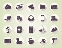 Icons of home appliances Stock Photos