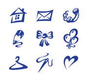 Icons home holiday Stock Photography