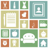 Icons for home Royalty Free Stock Photo