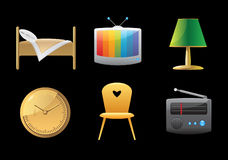 Icons for home Stock Photography