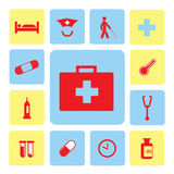 Icons hospital set Royalty Free Stock Image