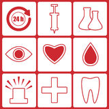 Icons for the hospital Royalty Free Stock Image