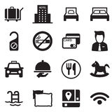 icons for hostels and hotels illustration symbol Vector Royalty Free Stock Photos
