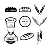 Icons of hot bread Stock Photography
