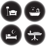 Icons for hotel services Royalty Free Stock Photography