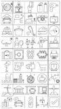 Icons for hotel and travel. Set of line vector icons for hotel and travel Stock Photography
