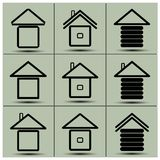 The icons of the house Stock Photos