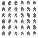 Icons house, vector illustration. Royalty Free Stock Photos