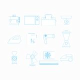 Icons for household appliances Royalty Free Stock Photos