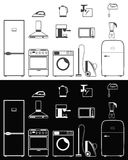Icons of household appliances Stock Photo