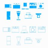 Icons for household equipment Royalty Free Stock Images
