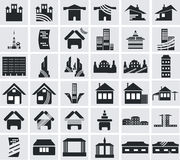 Icons of houses Stock Photos