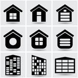 Icons houses Royalty Free Stock Photos
