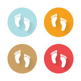 Icons human foots Royalty Free Stock Photography