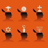 Icons of human head Royalty Free Stock Photos