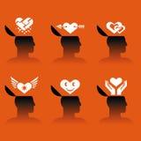 Icons of human head Stock Photo