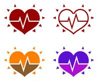 Icons of human heart Stock Image