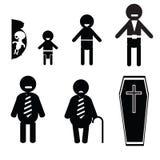 Icons of human life Stock Photo