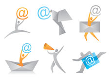 Icons_I_Mail Arkivbild
