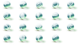 Icons ice 3d  (+ caustic) Stock Photography