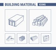 Building Material Icons - Set Web & Mobile 01 vector illustration