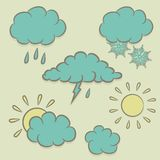 Icons images of weather Stock Photos