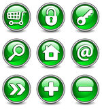 Icons In Green Royalty Free Stock Image
