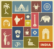 Icons of India Royalty Free Stock Photo