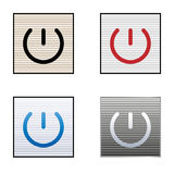 Icons indicates power Royalty Free Stock Images
