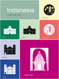 Icons of Indonesia Royalty Free Stock Photo