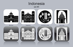 Icons of Indonesia Stock Photography