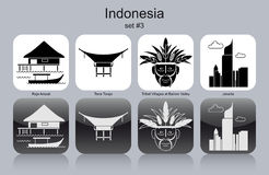 Icons of Indonesia Royalty Free Stock Images