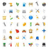 Icons for industry Royalty Free Stock Photos