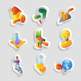 Icons for industry Royalty Free Stock Images