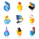 Icons for industry and ecology Royalty Free Stock Photos