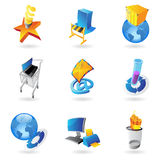 Icons for industry and ecology Royalty Free Stock Photography