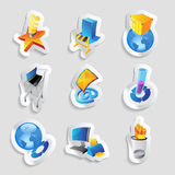 Icons for industry and ecology Royalty Free Stock Image