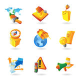 Icons for industry Royalty Free Stock Photo