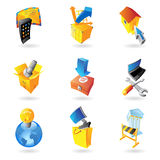 Icons for industry Stock Photography