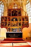 Icons inside the fortified medieval church Biertan, Transylvania. Royalty Free Stock Image