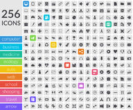 Icons inside rounded squares Royalty Free Stock Photo