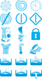Icons for the instruction to a washing machine Royalty Free Stock Image