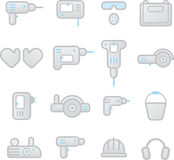 Icons instrument, toolware Royalty Free Stock Photo