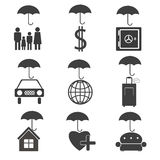 Icons for the insurance company Stock Images